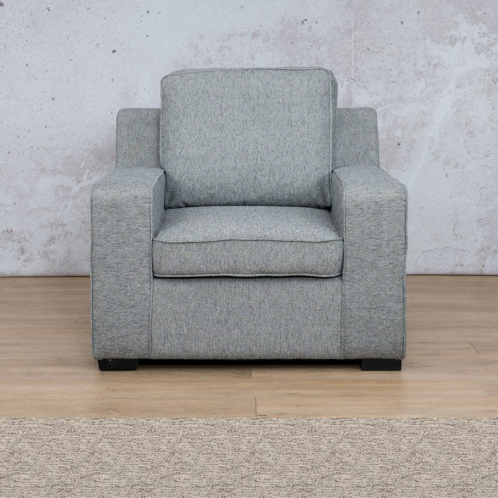 Arizona Fabric | 1 Seater | Pebble | Leather Gallery