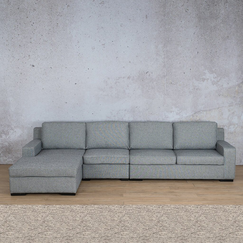Arizona Fabric Corner Couch | Chaise Modular Sectional-LHF | Pebble | Couches For Sale | Leather Gallery Couches