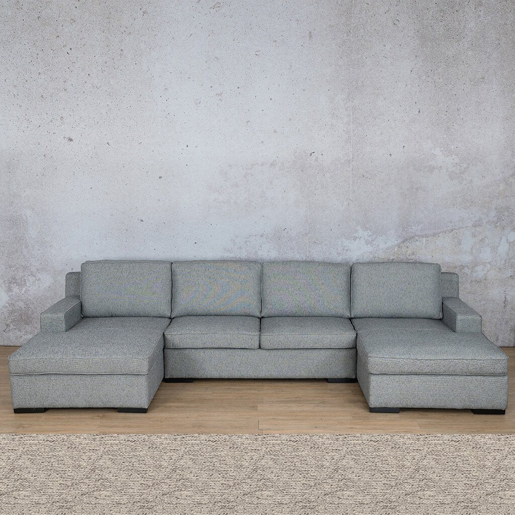 Arizona Fabric Corner Couch | U-Chaise Sectional | Pebble | Couches For Sale | Leather Gallery Couches