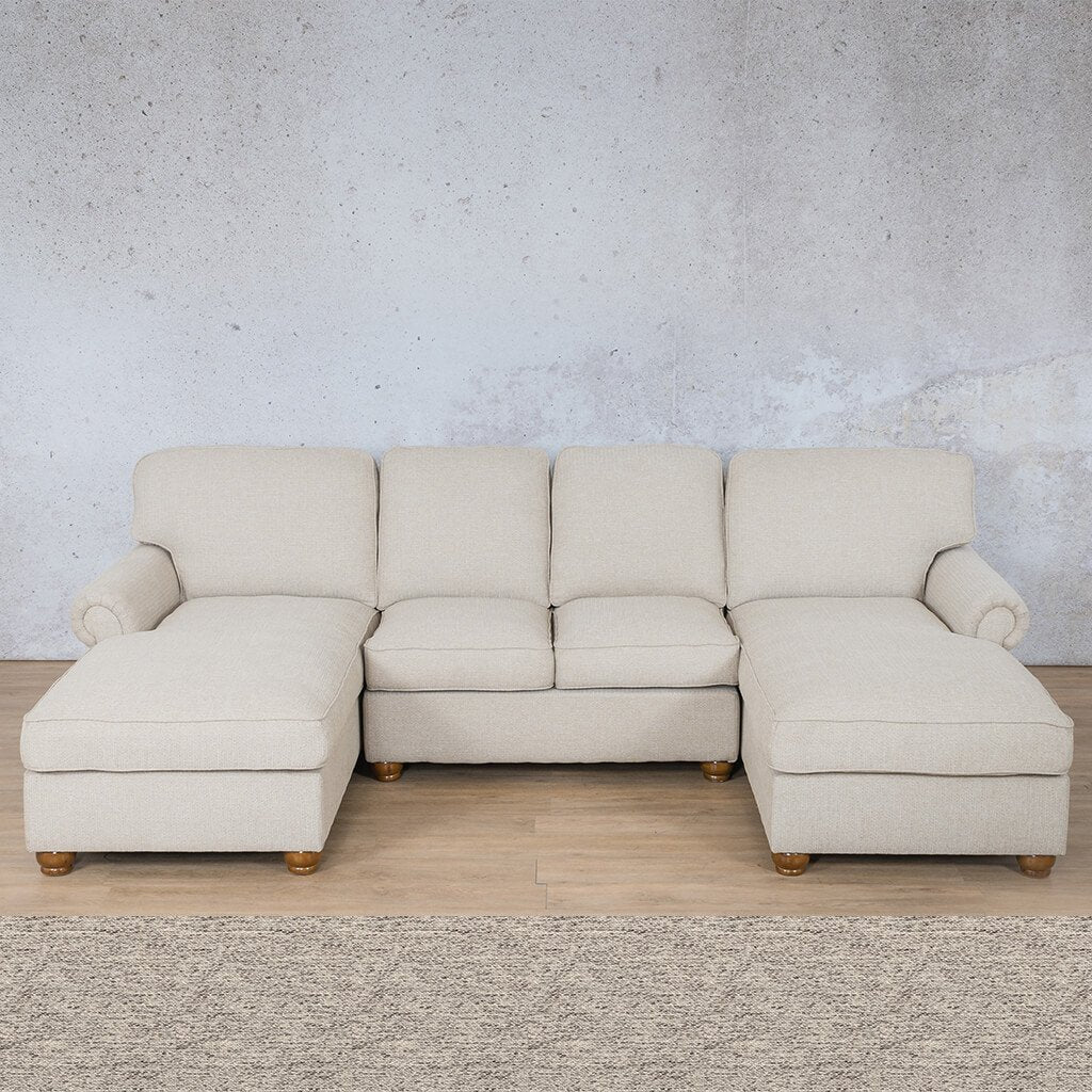 Salisbury Fabric Corner Couch | Customisable Sectional | Pebble | Couches For Sale | Leather Gallery Couches