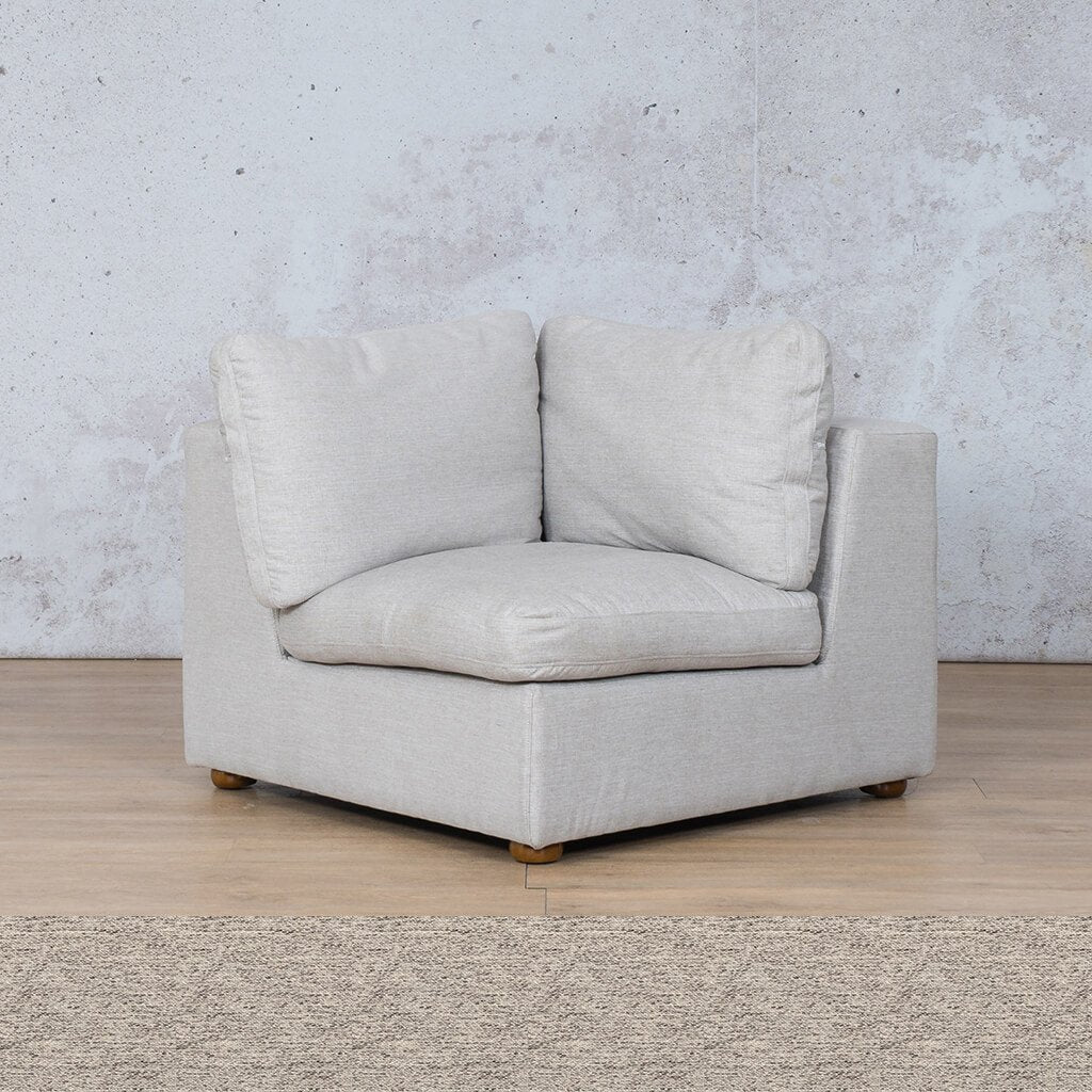 Skye Fabric Corner Couch | 1 Seater Couch | Pebble | Couches For Sale | Leather Gallery Couches