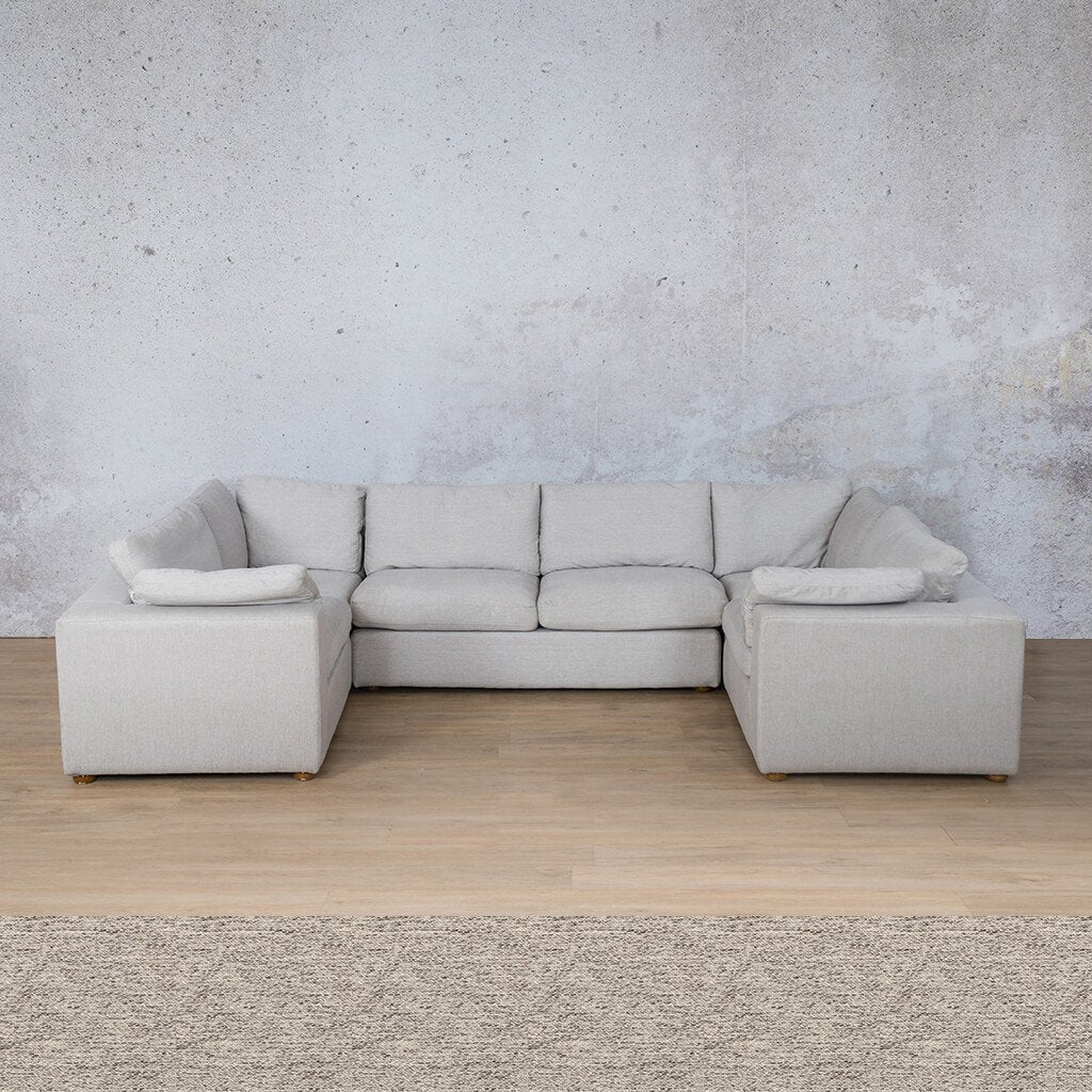 Skye Fabric Corner Couch | U-Sofa Sectional | Pebble | Couches For Sale | Leather Gallery Couches