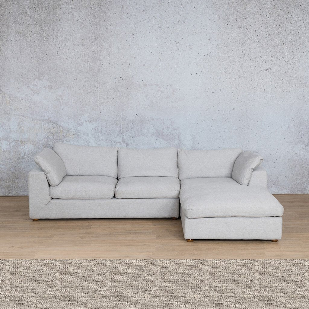 Skye Fabric Corner Couch | Chaise Sectional-RHF | Pebble | Couches For Sale | Leather Gallery Couches