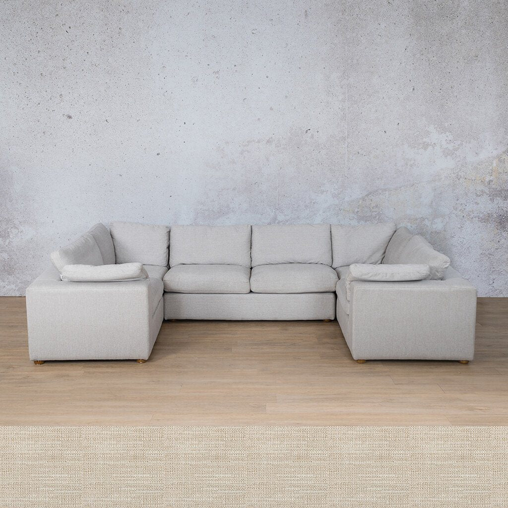 Skye Fabric Corner Couch | U-Sofa Sectional | Prismatic | Couches For Sale | Leather Gallery Couches