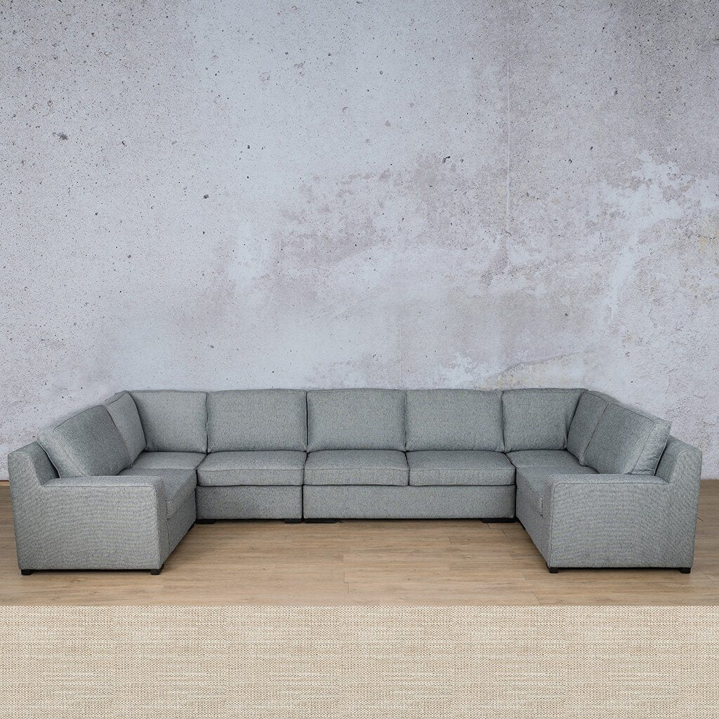 Arizona Fabric Corner Couch | Modular U-Sofa Sectional | Prismatic | Couches For Sale | Leather Gallery Couches