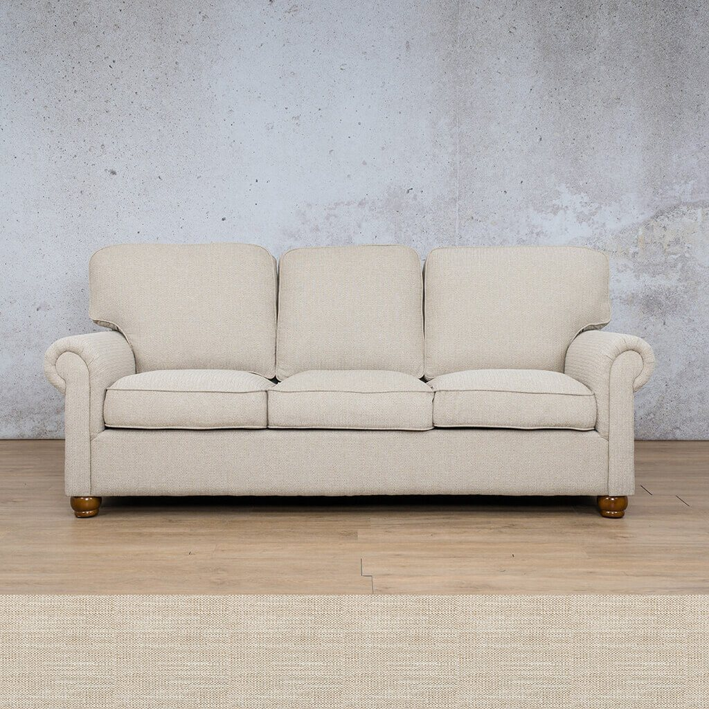 Salisbury Fabric Couch | 3 Seater Couch | Oyster | Couches for Sale | Riverside S | Leather Gallery Couches
