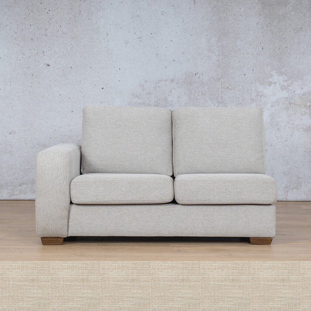 Stanford Fabric Corner Couch | 2 Seater Right Arm | Prismatic | Couches For Sale | Leather Gallery Couches