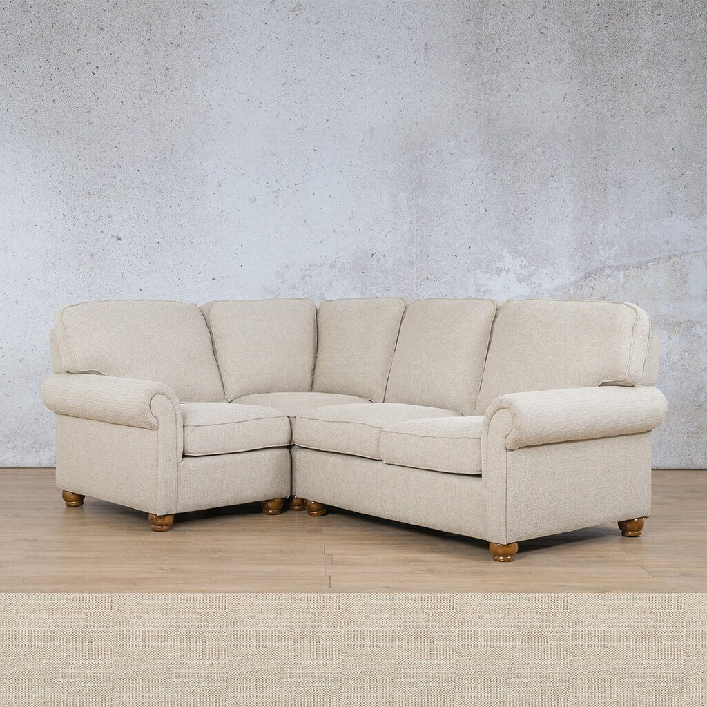 Salisbury Fabric Corner Couch | L-Sectional 4 Seater-LHF | Prismatic | Couches For Sale | Leather Gallery Couches