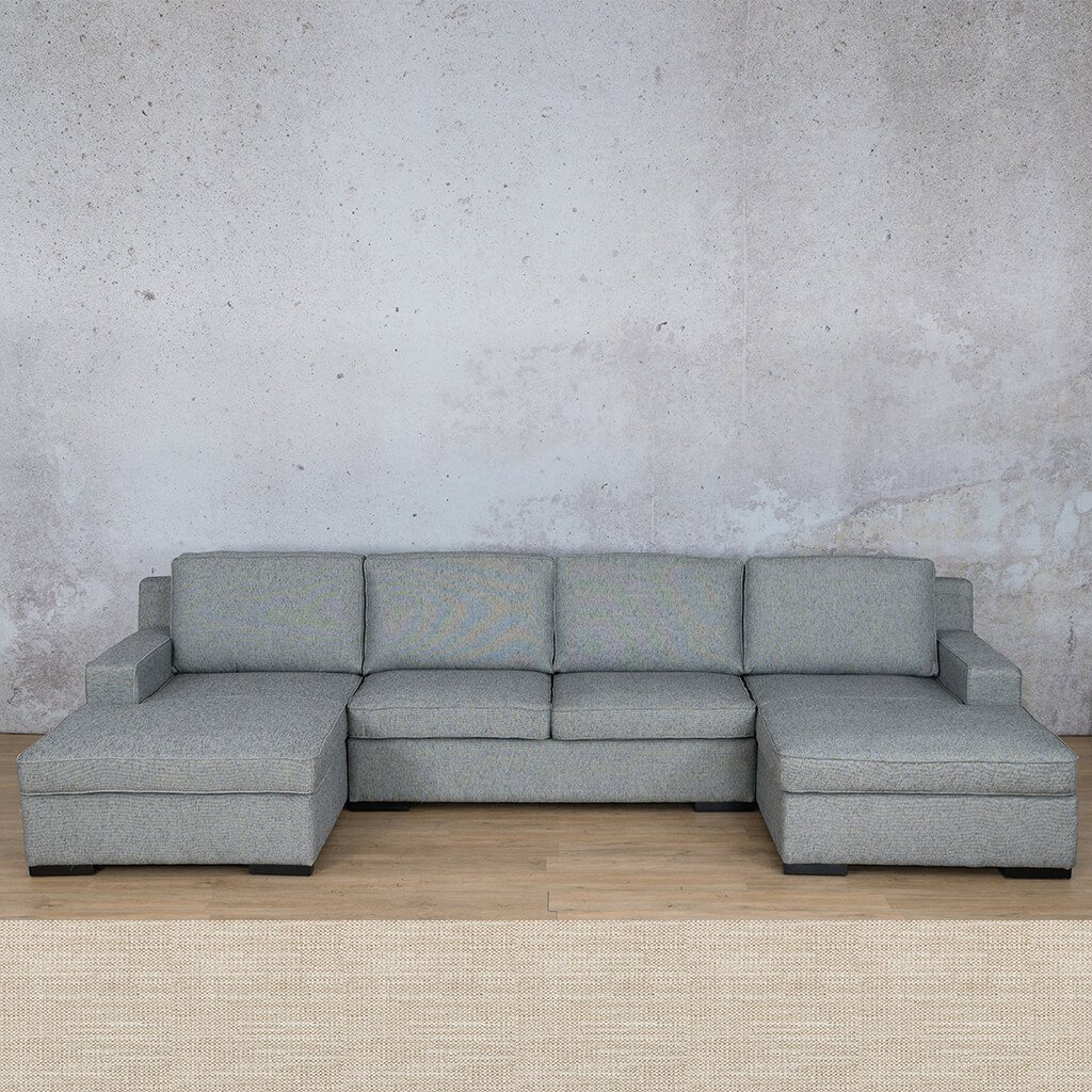 Arizona Fabric Corner Couch | U-Chaise Sectional | Prismatic | Couches For Sale | Leather Gallery Couches