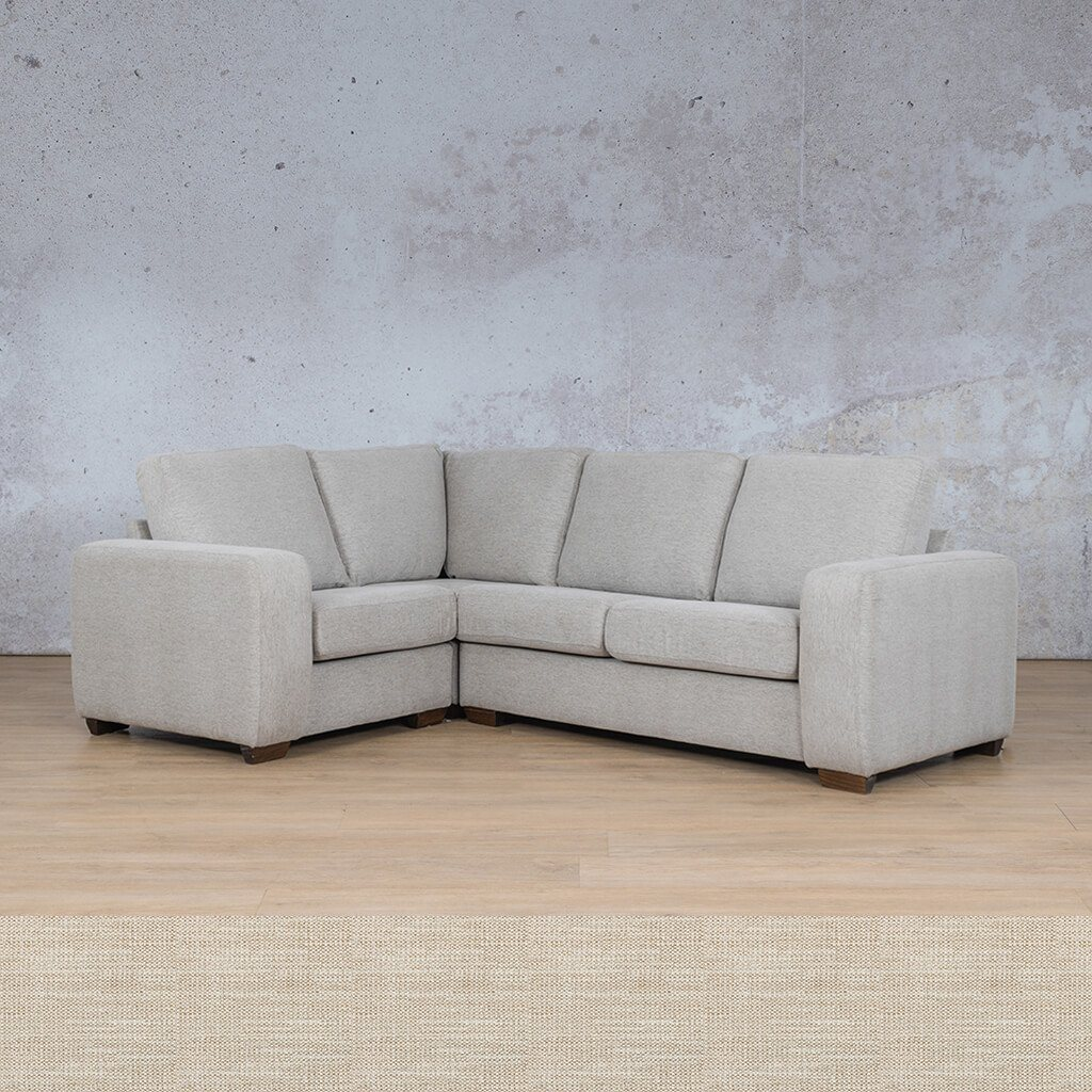 Stanford Fabric Corner Couch | L-Sectional 4 Seater Couch-LHF | Prismatic | Couches For Sale | Leather Gallery Couches