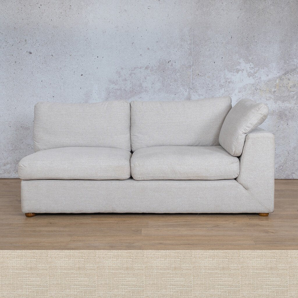 Skye Fabric Corner Couch | 2 Seater Left Arm Couch | Prismatic | Couches For Sale | Leather Gallery Couches