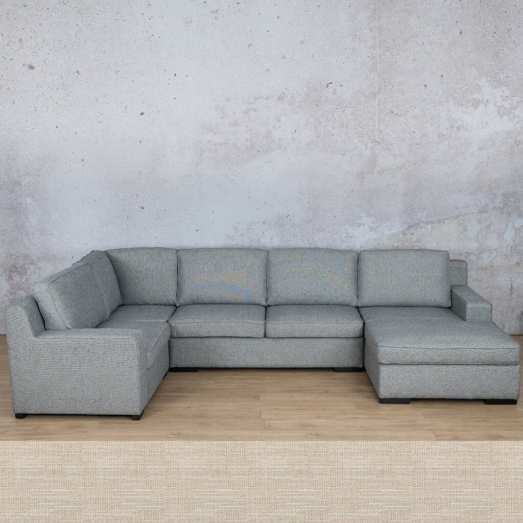 Arizona Fabric Corner Couch | U-Sofa Chaise Sectional-RHF | Prismatic | Couches For Sale | Leather Gallery Couches
