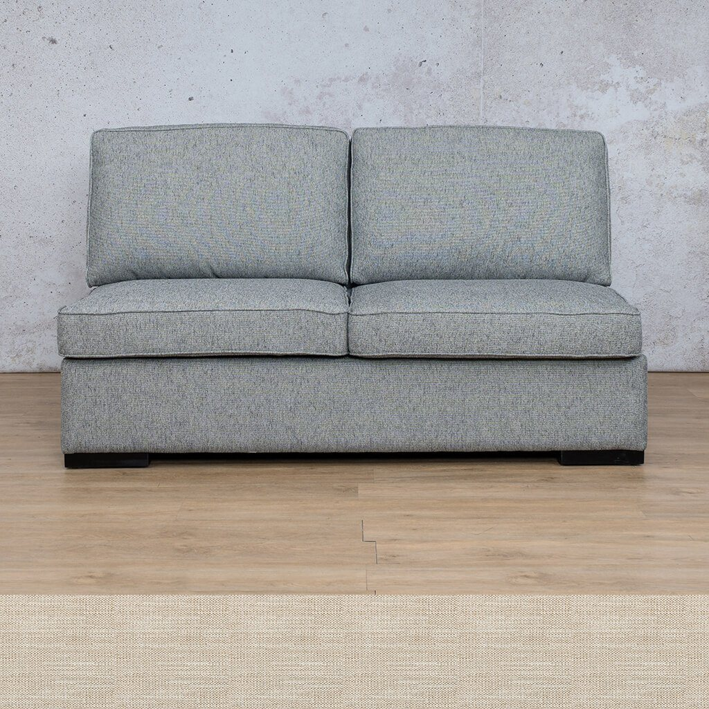Arizona Fabric Couch | Armless 2 Seater Couch | Prismatic | Couches For Sale | Leather Gallery Couches