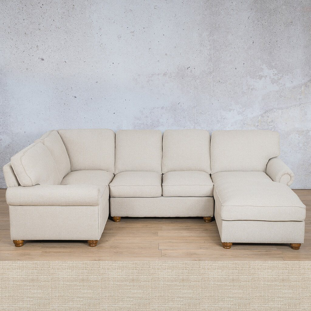 Salisbury Fabric Corner Couch | U-Sofa Chaise Sectional-RHF | Prismatic | Couches For Sale | Leather Gallery Couches