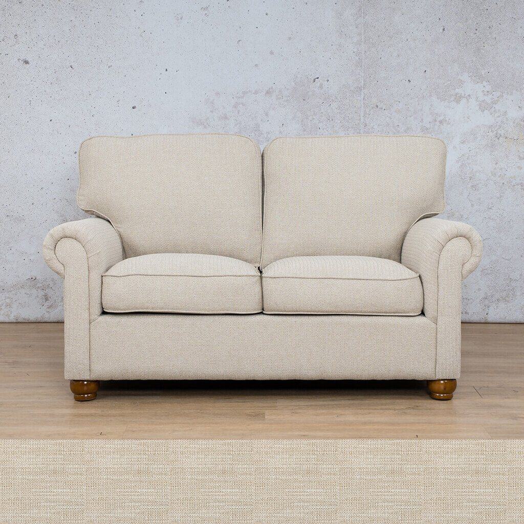 Salisbury Fabric  Couch | 2 Seater Couch | Couches for Sale | Frost Cream | Leather Gallery Couches