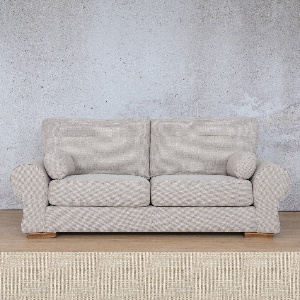 Carolina Fabric Couch | 3 Seater Couch  |  Couches for Sale | Frost Cream | Leather Gallery Couches