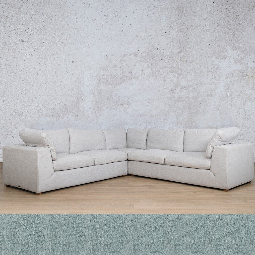 Skye Fabric Corner Couch | L-Sectional 5 Seater | Quail Shell | Couches For Sale | Leather Gallery Couches