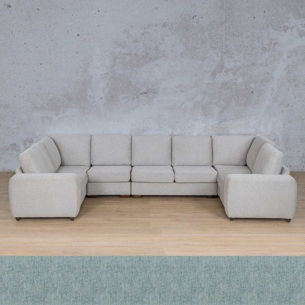 Stanford Fabric Corner Couch | Modular U-Sofa Couch | Quail Shell | Couches For Sale | Leather Gallery Couches