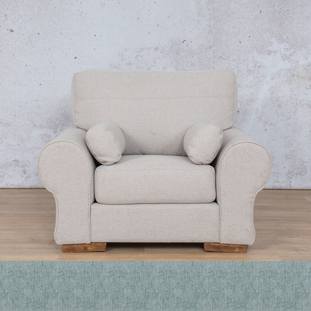 Carolina Fabric Couch | 1 seater couch | Quail Shell | Couches for Sale | Leather Gallery Couches