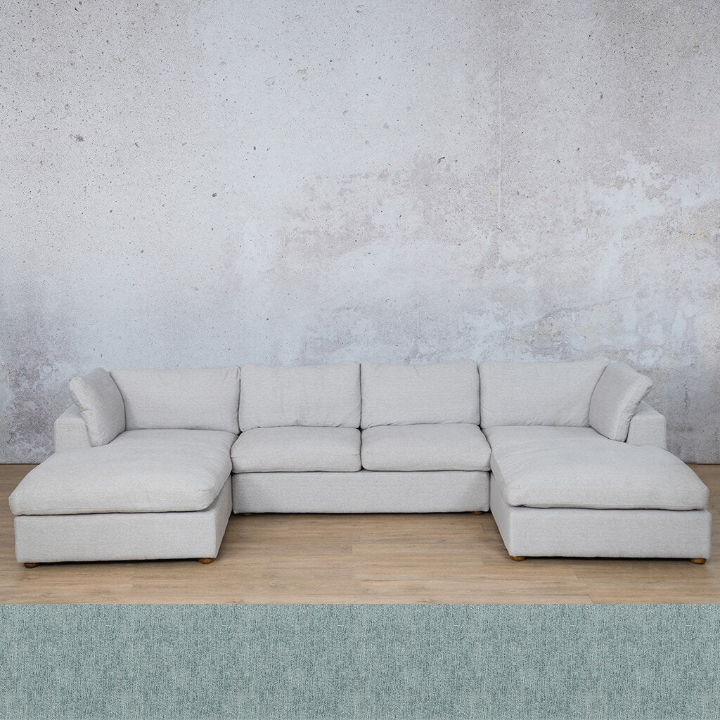 Skye Fabric Corner Couch | U-Sofa Sectional | Quail Shell | Couches For Sale | Leather Gallery Couches