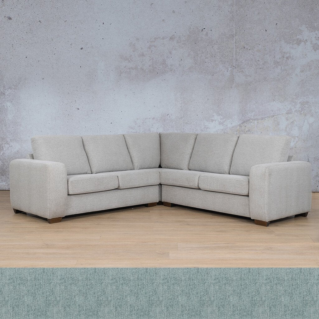 Stanford Fabric Corner Couch | L-Sectional 5 Seater Couch | Quail Shell | Couches For Sale | Leather Gallery Couches