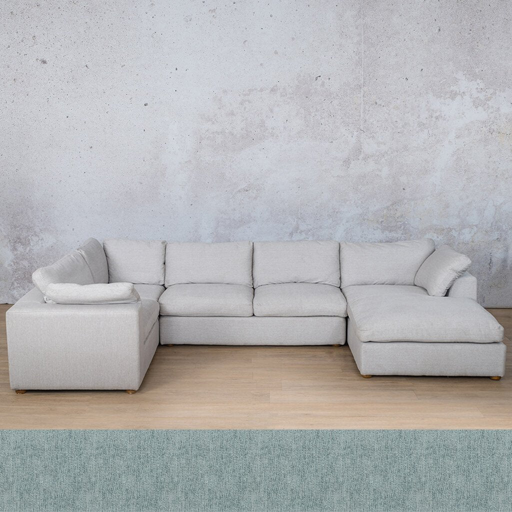 Skye Fabric Corner Couch | U-Sofa Chaise Sectional-RHF | Quail Shell | Couches For Sale | Leather Gallery Couches