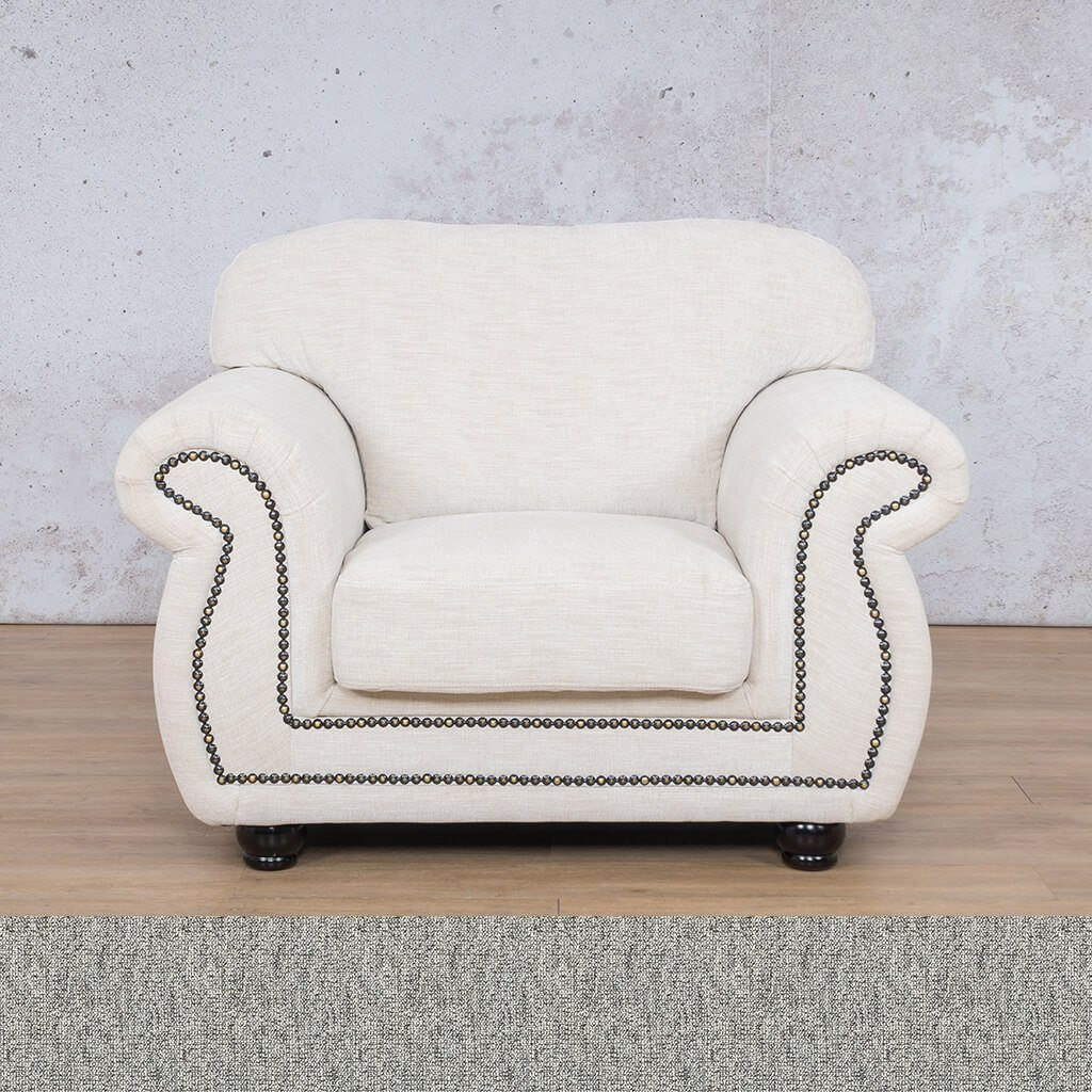 Isilo Fabric sofa suite | 1 Seater Couch  | Couches for Sale| Quarry Black and White | Leather Gallery Couches