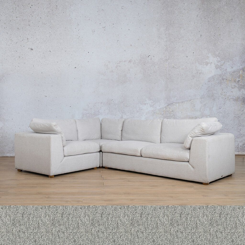 Skye Fabric Corner Couch | L-Sectional 4 Seater-LHF | Quarry Black and White | Couches For Sale | Leather Gallery Couches