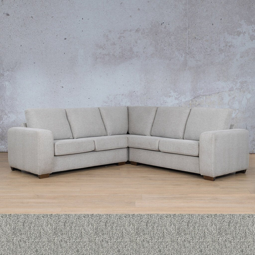 Stanford Fabric Corner Couch | L-Sectional 5 Seater Couch | Quarry Black and White | Couches For Sale | Leather Gallery Couches