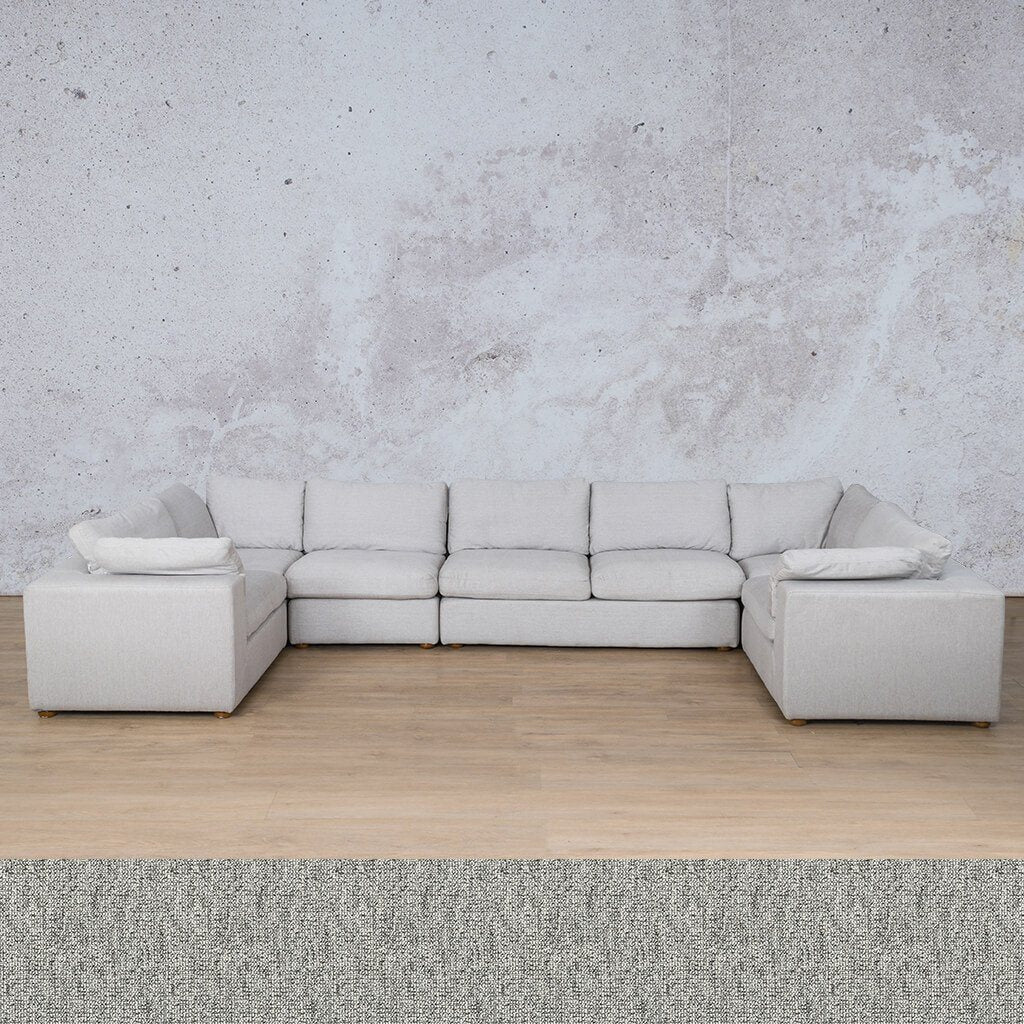 Skye Fabric Corner Couch | Modular U-Sofa Sectional | Quarry Black and White | Couches For Sale | Leather Gallery Couches