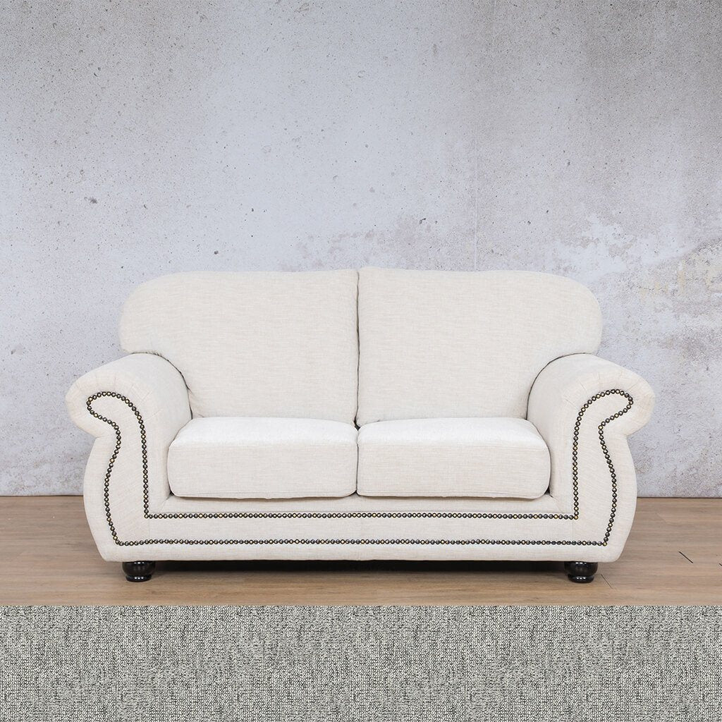 Isilo Fabric sofa suite | 2 Seater Couch  | Couches for Sale| Quarry Black and White | Leather Gallery Couches