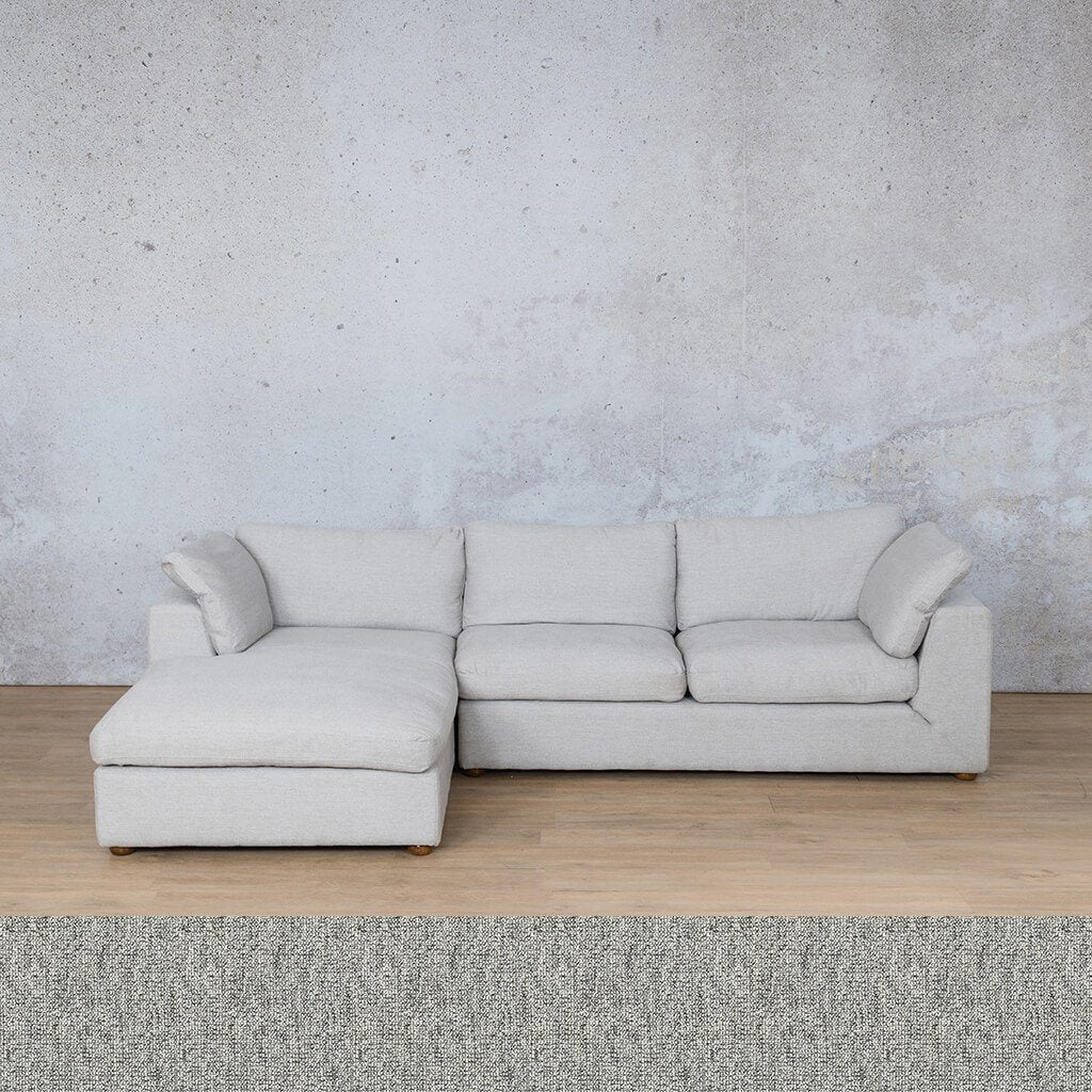 Skye Fabric Corner Couch | Chaise Sectional-LHF | Quarry Black and White | Couches For Sale | Leather Gallery Couches