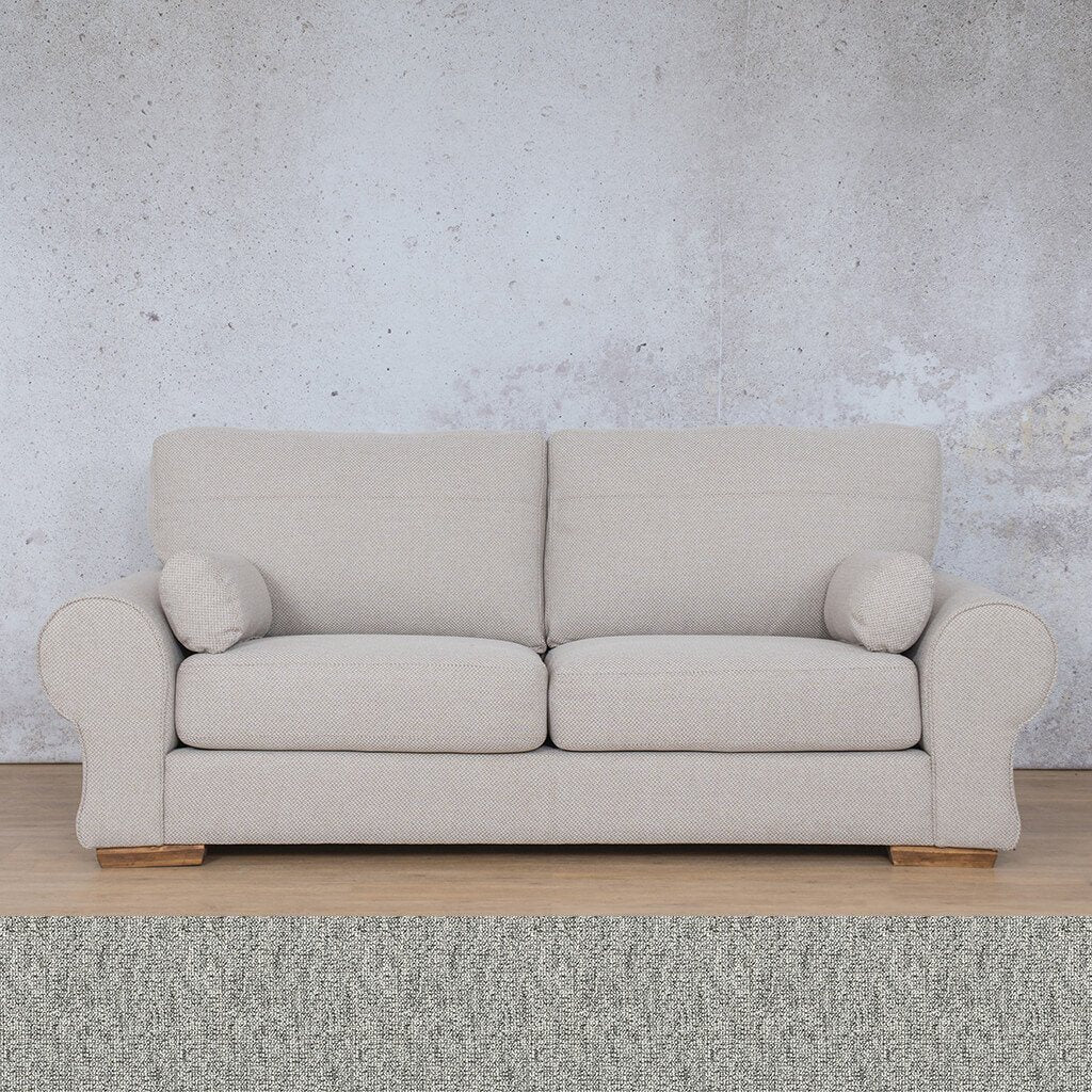 Carolina Fabric Couch | 3 Seater Couch  |  Couches for Sale | Quarry Black and White | Leather Gallery Couches