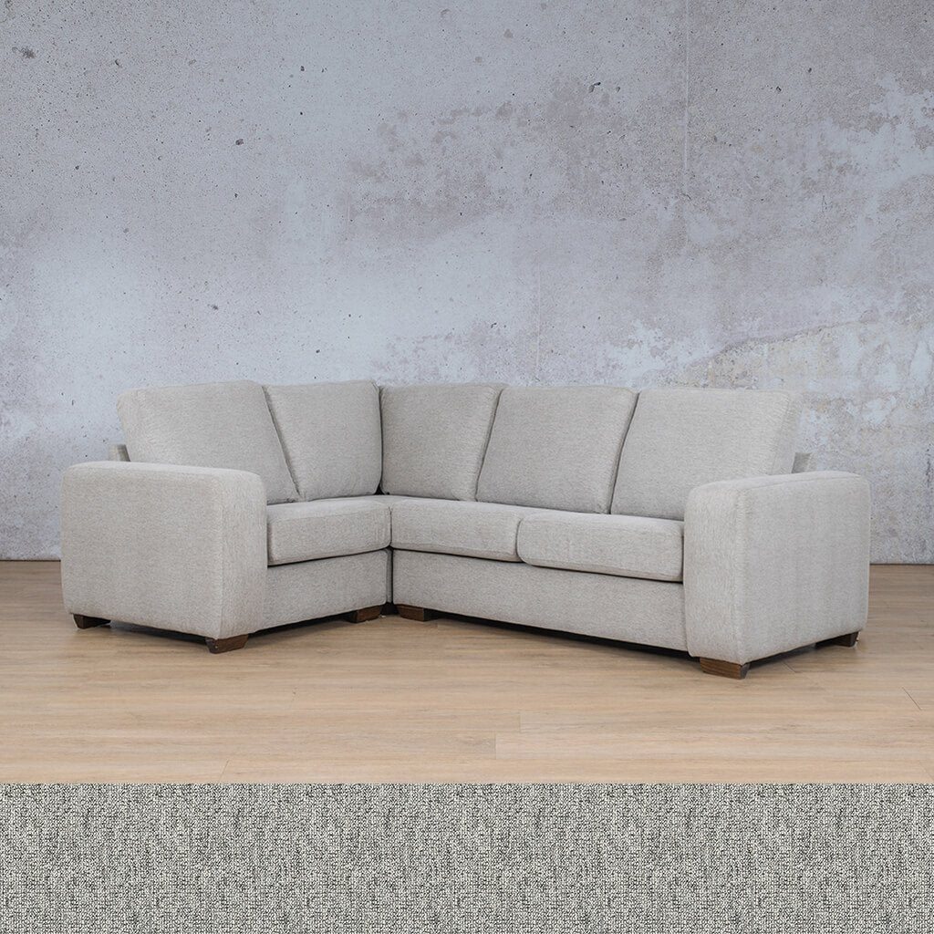 Stanford Fabric Corner Couch | L-Sectional 4 Seater Couch-LHF | Quarry Black and White | Couches For Sale | Leather Gallery Couches