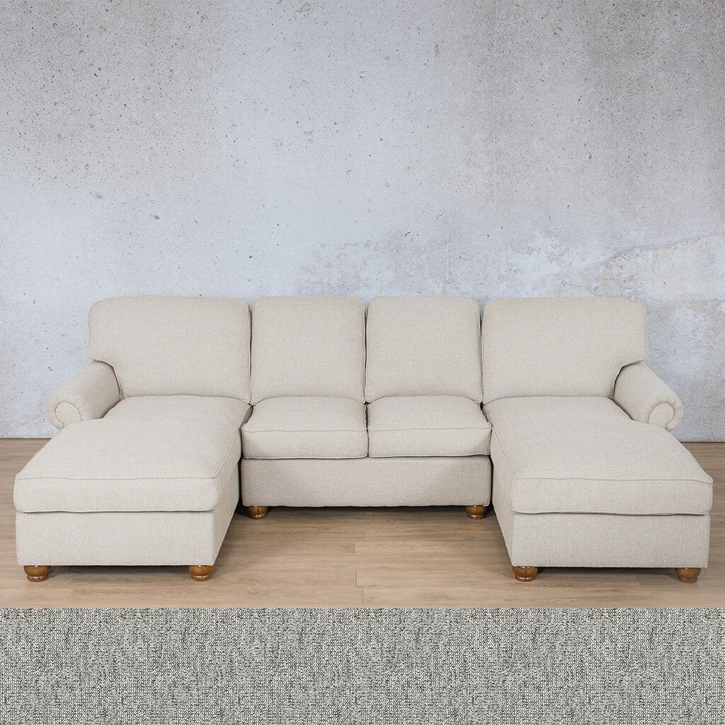 Salisbury Fabric Corner Couch | Customisable Sectional | Quarry Black and White | Couches For Sale | Leather Gallery Couches