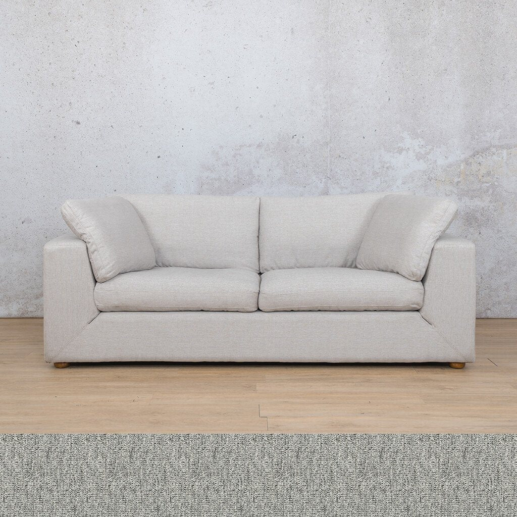 Skye Fabric Corner Couch | 3 Seater Couch | Quarry Black and White | Couches For Sale | Leather Gallery Couches