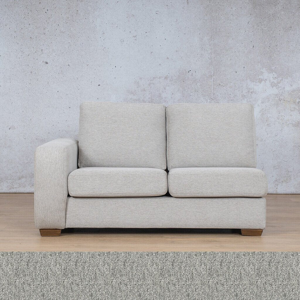 Stanford Fabric Corner Couch | 2 Seater Right Arm | Quarry Black and White | Couches For Sale | Leather Gallery Couches