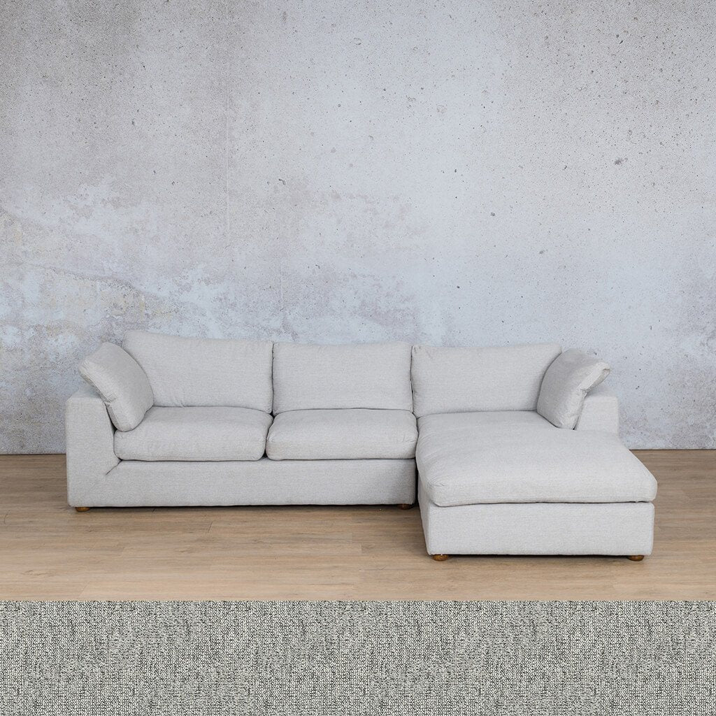 Skye Fabric Corner Couch | Chaise Sectional-RHF | Quarry Black and White | Couches For Sale | Leather Gallery Couches