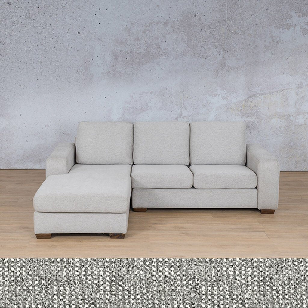 Stanford Fabric Corner Couch | Sofa Chaise-LHF | Quarry Black and White | Couches For Sale | Leather Gallery Couches