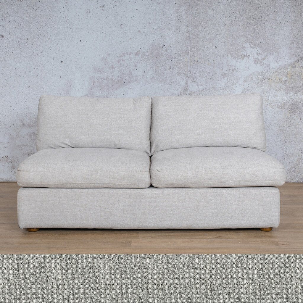 Skye Fabric Corner Couch | Armless 2 Seater Couch | Quarry Black and White | Couches For Sale | Leather Gallery Couches