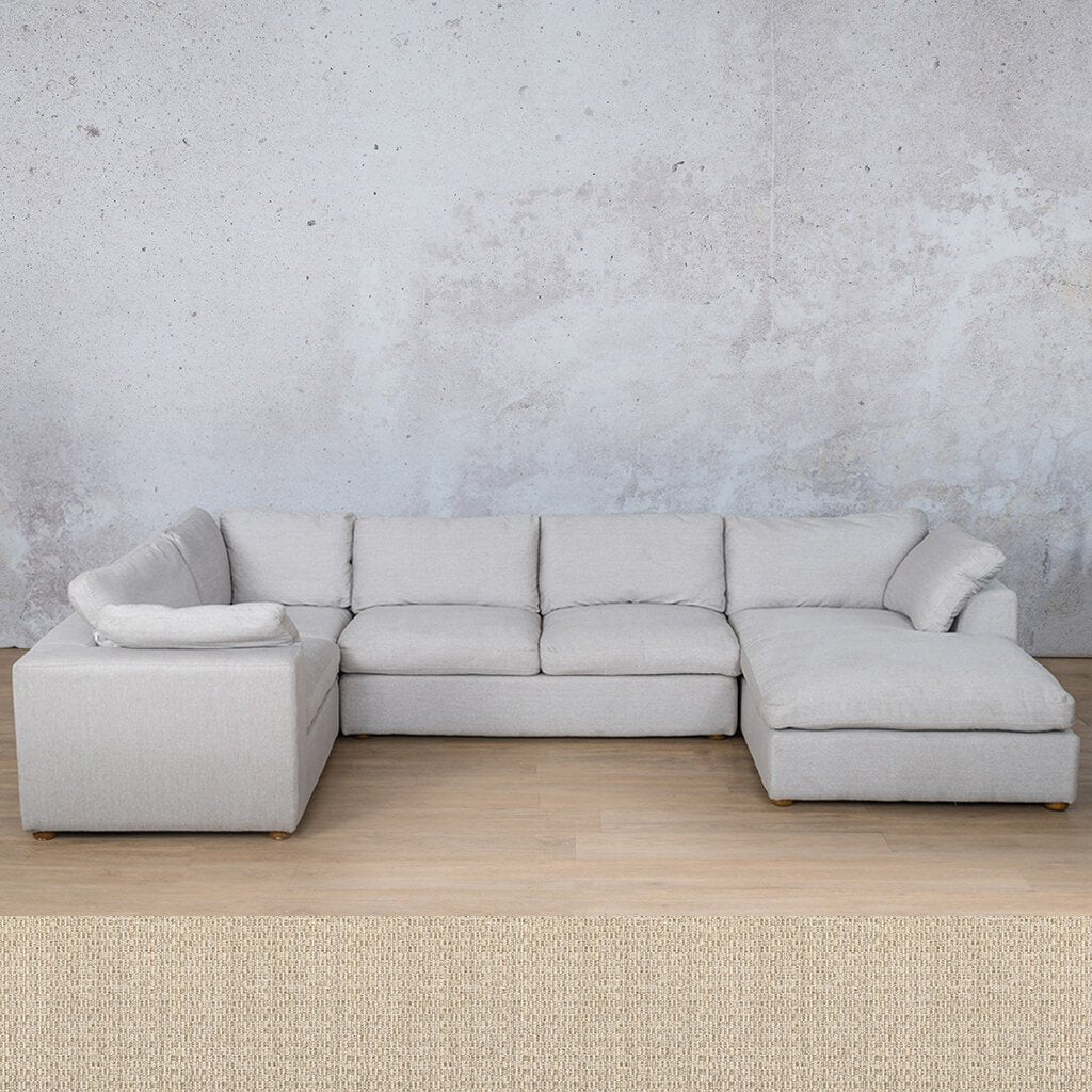 Skye Fabric Corner Couch | U-Sofa Chaise Sectional-RHF | Riverside | Couches For Sale | Leather Gallery Couches