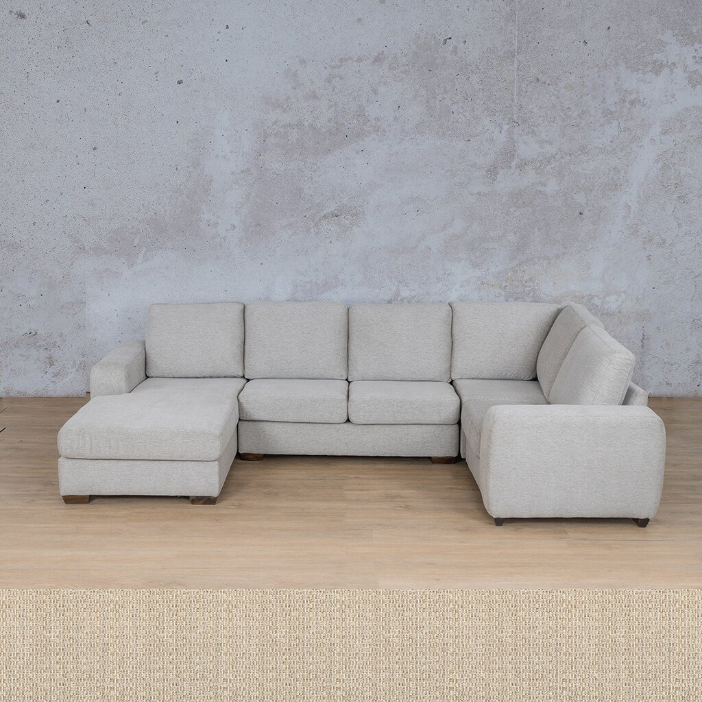 Stanford Fabric Corner Couch | U-Sofa Chaise-RHF | Riverside | Couches For Sale | Leather Gallery Couches