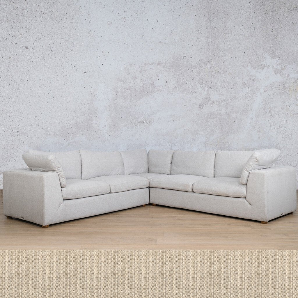 Skye Fabric Corner Couch | L-Sectional 5 Seater | Riverside | Couches For Sale | Leather Gallery Couches