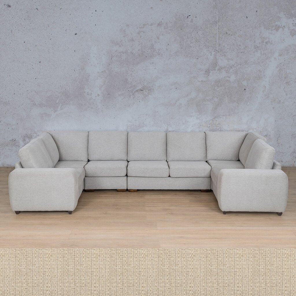Stanford Fabric Corner Couch | Modular U-Sofa Couch | Riverside | Couches For Sale | Leather Gallery Couches