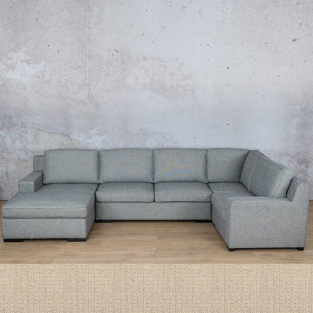 Arizona Fabric Corner Couch | U-Sofa Chaise Sectional-LHF | Riverside | Couches For Sale | Leather Gallery Couches