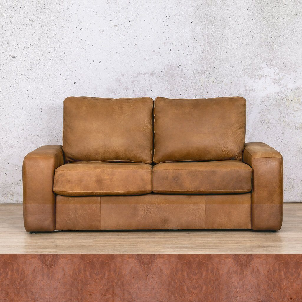 Stanford 2 Seater Leather Sleeper Sofa