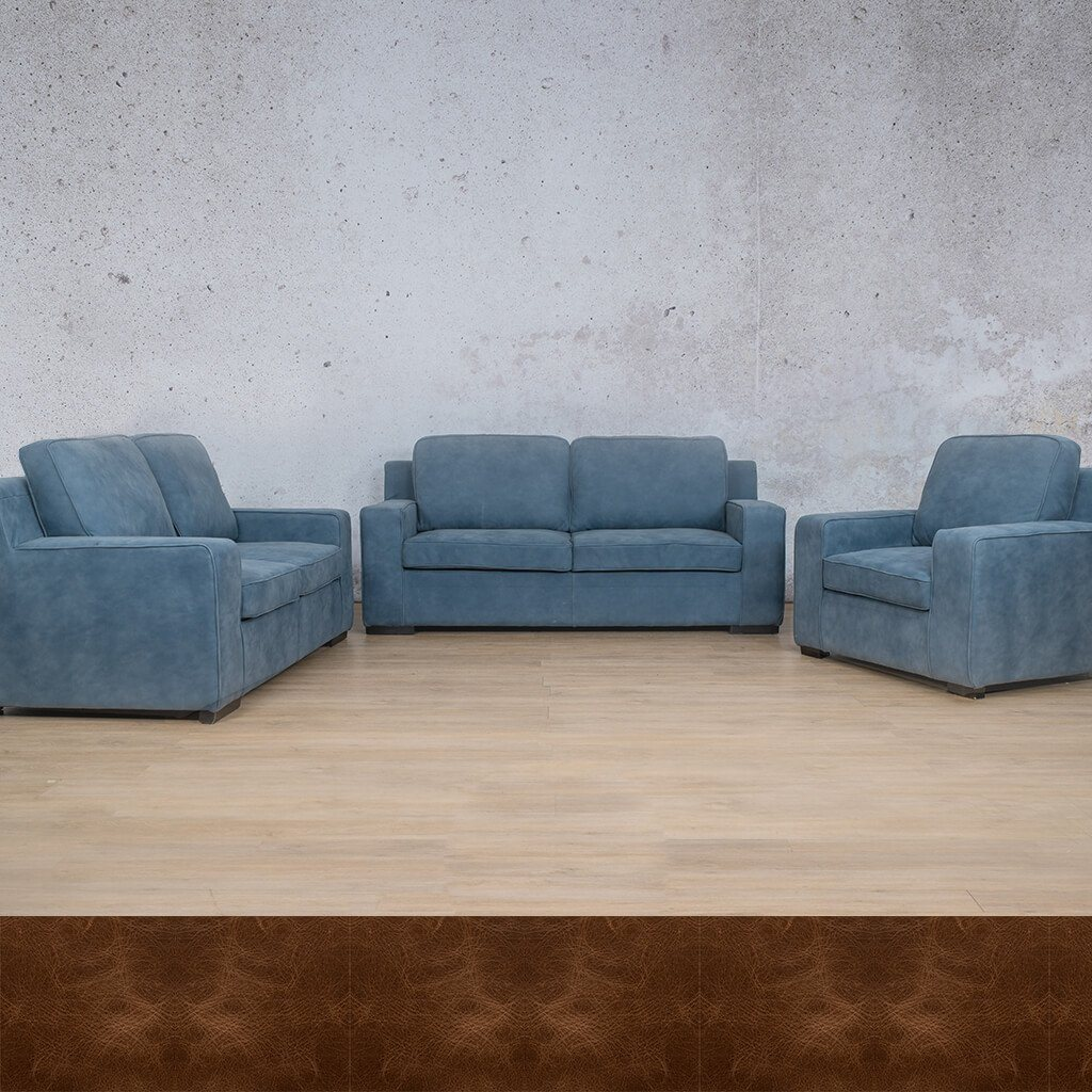 Arizona Leather Couches | 3-2-1 Seater Couches | Couches for Sale | Royal Cognac | Leather Gallery Couches