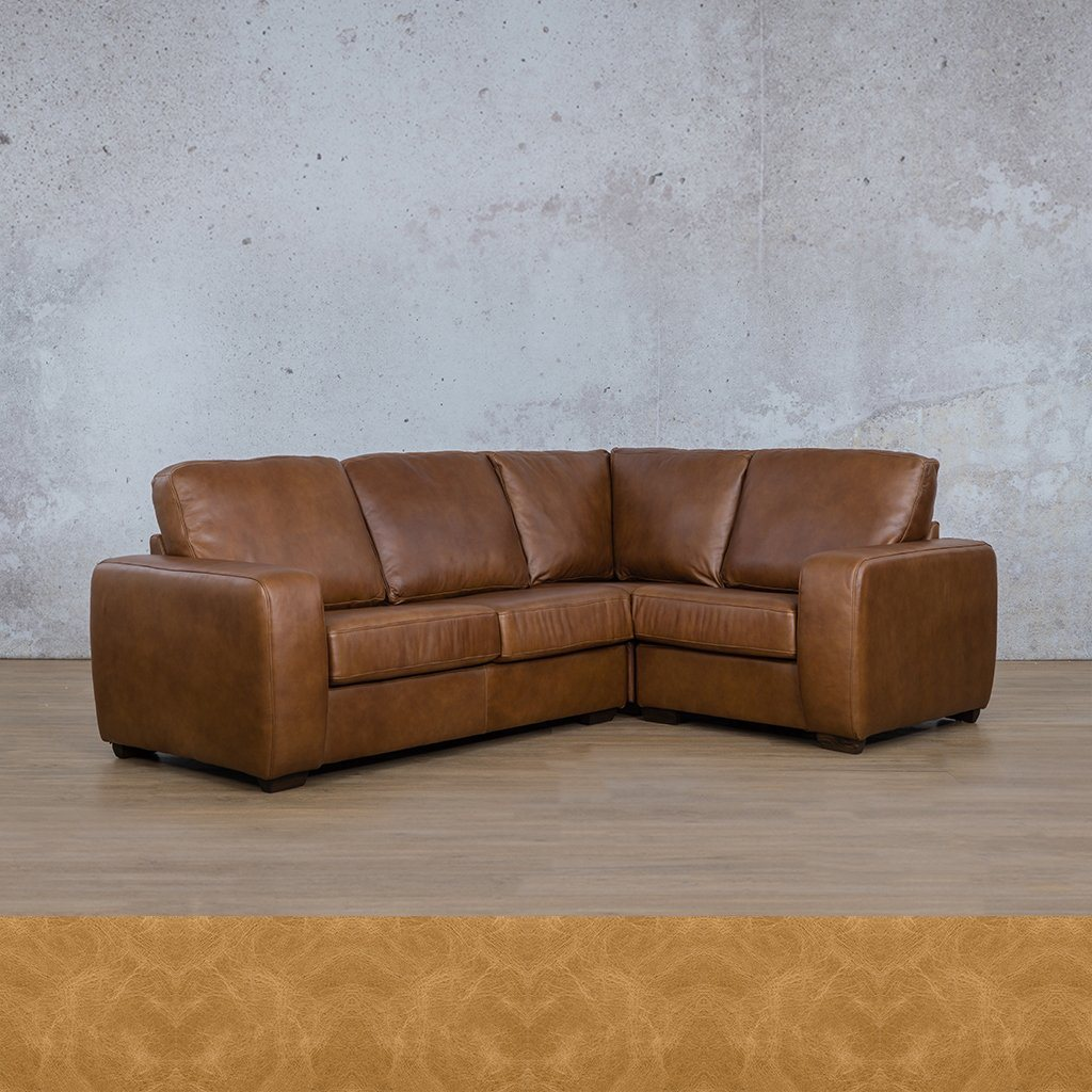 Stanford Leather L-Sectional 4 Seater - RHF
