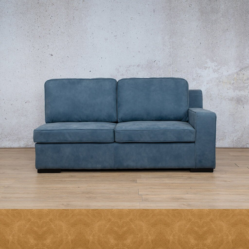 Arizona Leather Couch | 2 Seater Left Arm | Royal Hazelnut | Leather Gallery