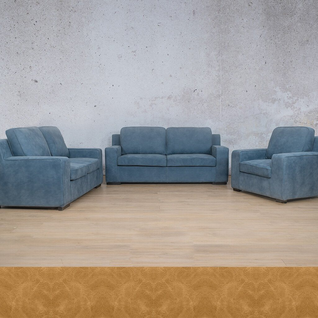 Arizona Leather Couch | 3+2+1 Suite | Royal Hazelnut | Leather Gallery